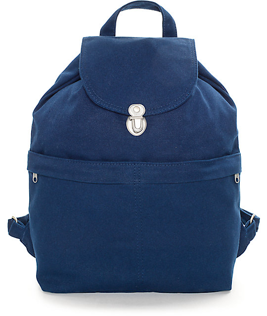 Baggu Indigo Canvas Backpack