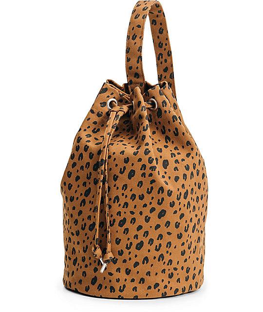 Baggu Leopard Canvas Sling Bag
