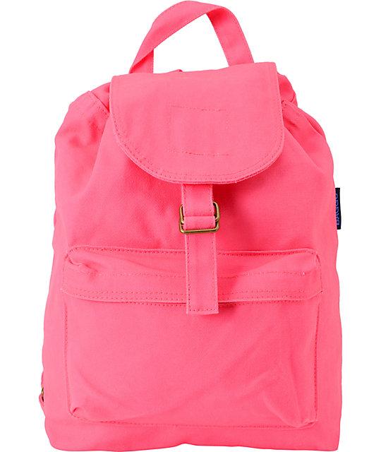 Baggu Neon Hot Pink Backpack