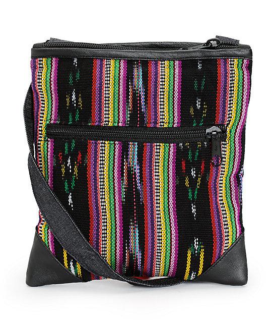 Baja Bags Tribal Stripe Crossbody Purse