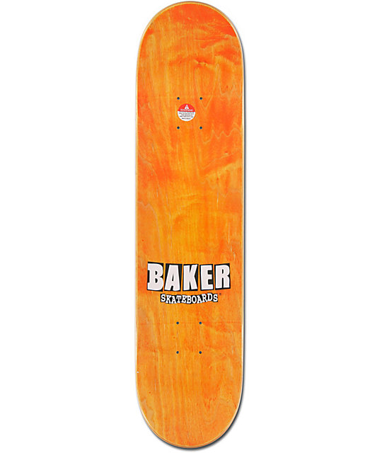 "Baker Camo & Orange Brand Logo 7.75""  Team Model Skateboard Deck"