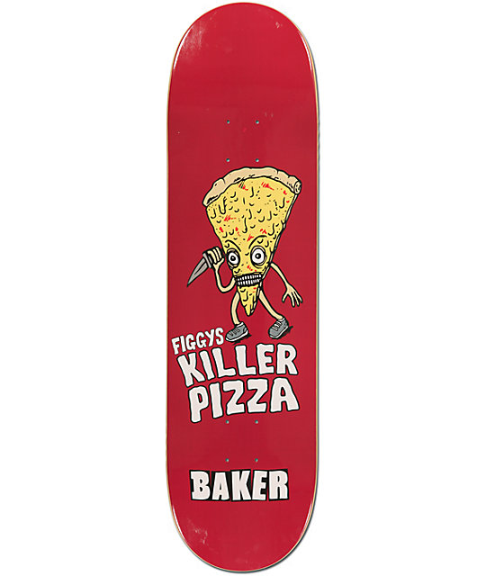 "Baker Figgys Killer Pizza 8.38""  Skateboard Deck"