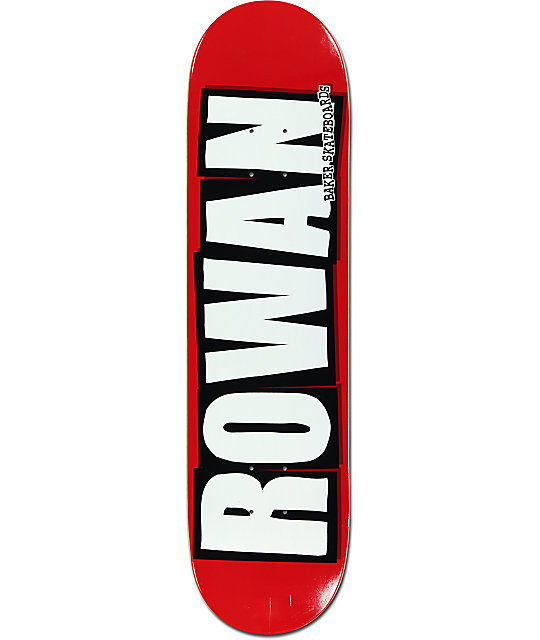 "Baker Rowan Logo 8.0""  Skateboard Deck"