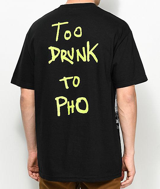 Baker Too Drunk To Pho Black T-Shirt