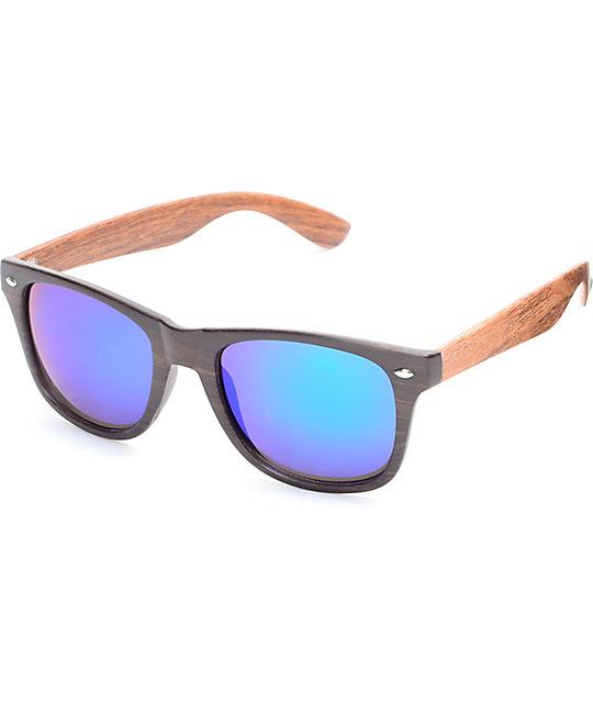 Bali Two Tone Green Mirrored Classic Sunglasses