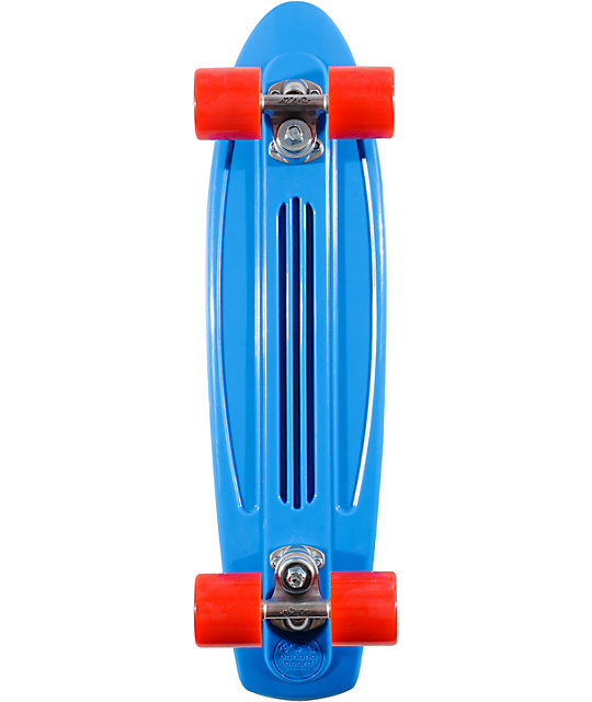 "Banana Board by Gold Cup 23""  Blue Mini Cruiser Complete Skateboard"