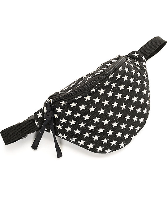 Barganza Black & White Star Fanny Pack