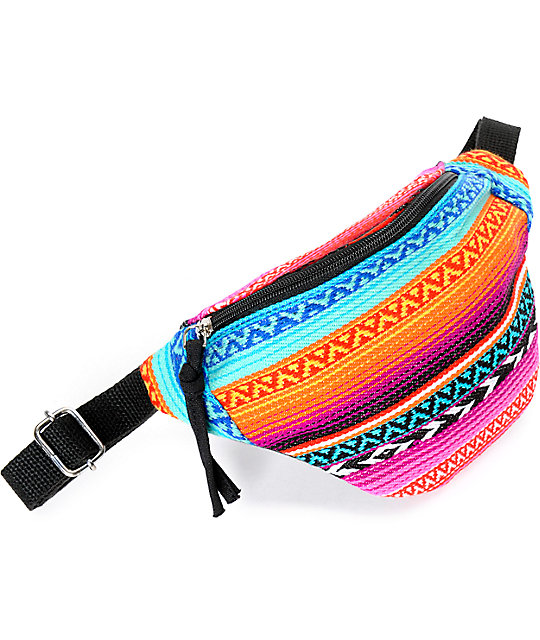 Barganza Southwest Multi Aztec Fanny Pack