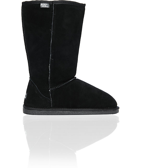 Beach Feet Girls High Slip-On Black Boots