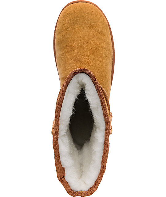 Beach Feet Girls Low Slip-On Chestnut Boots