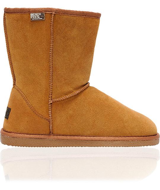 Beach Feet Girls Low Slip-On Chestnut Boots