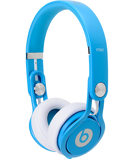 Beats By Dre Mixr Limited Edition Neon Blue Headphones
