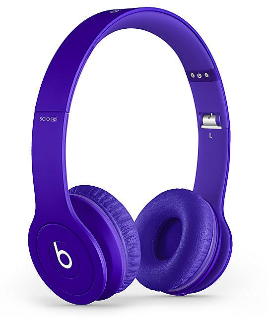 Beats By Dre Solo HD Monochrome Purple Headphones