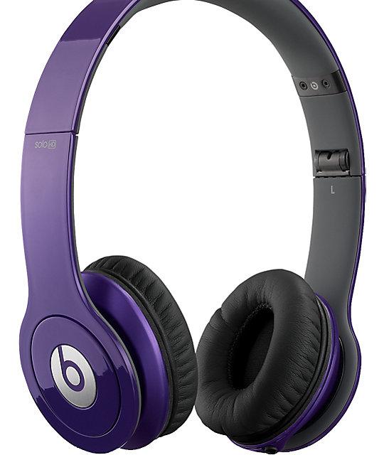 Beats By Dre Solo HD Purple Headphones