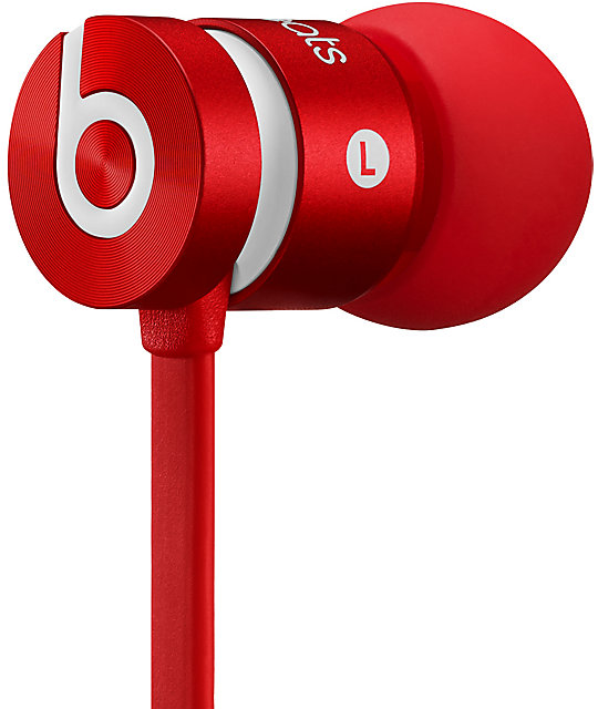 Beats By Dre UrBeats Red Headphones