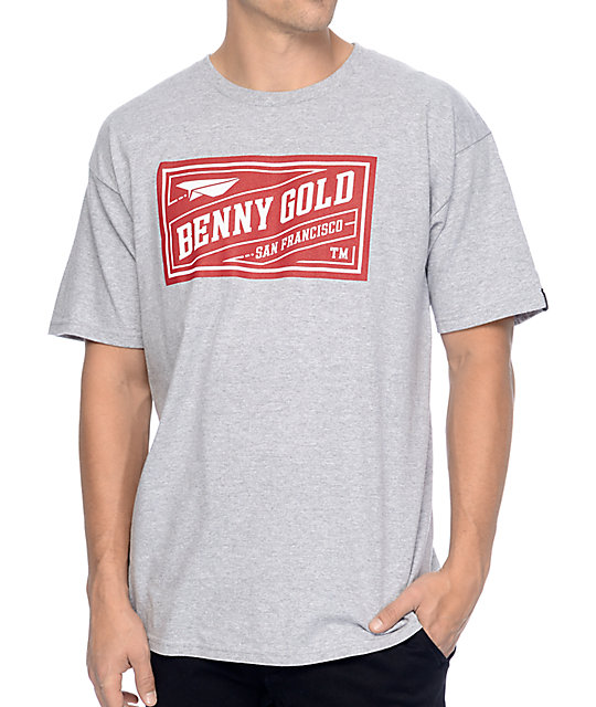 Benny Gold Classic Stamp Grey T-Shirt