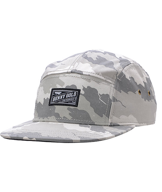 Benny Gold Fog Camo 5 Panel Hat