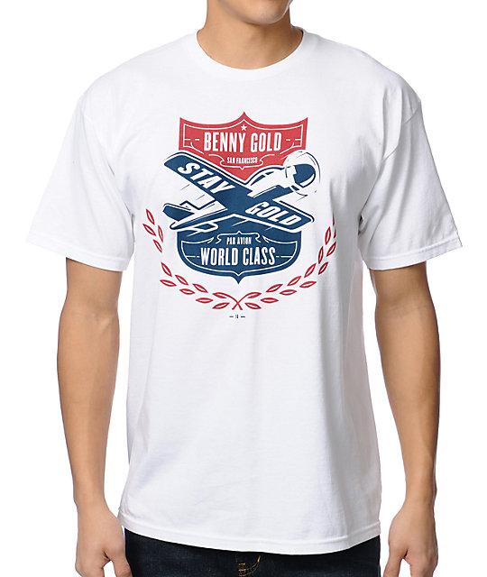 Benny Gold Par Avion White T-Shirt