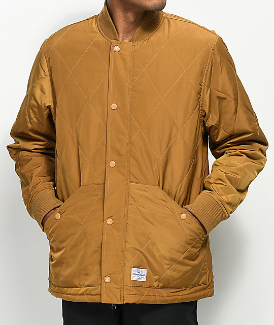 Benny Gold Park Copper Quilted Jacket | Zumiez : gold quilted jacket - Adamdwight.com