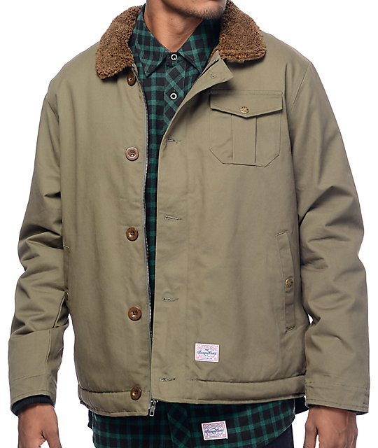 Benny Gold Pilot Army Green Deck Coat