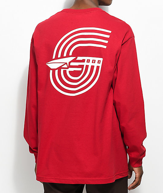 Benny Gold Track Cardinal Red Long Sleeve T-Shirt