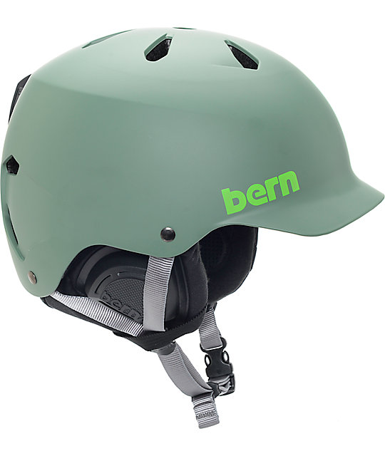 Bern Watts EPS Matte Leaf Green Snowboard Helmet