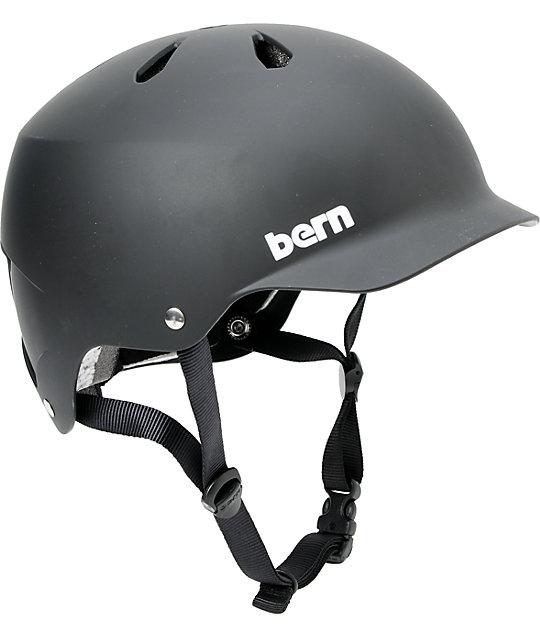 Bern Watts Hard Hat Matte Black Skateboard Helmet