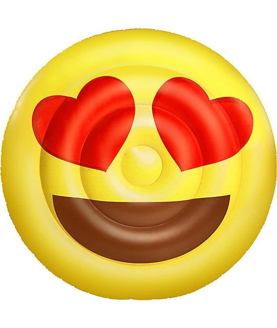 Big Mouth Inc Hearts Emoji Pool Float