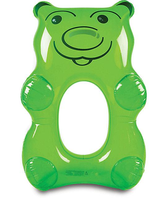 Big mouth inc flotador de piscina de osito de goma verde for Piscinas de goma
