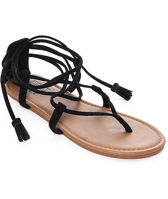 Billabong Around The Sun Black Sandals