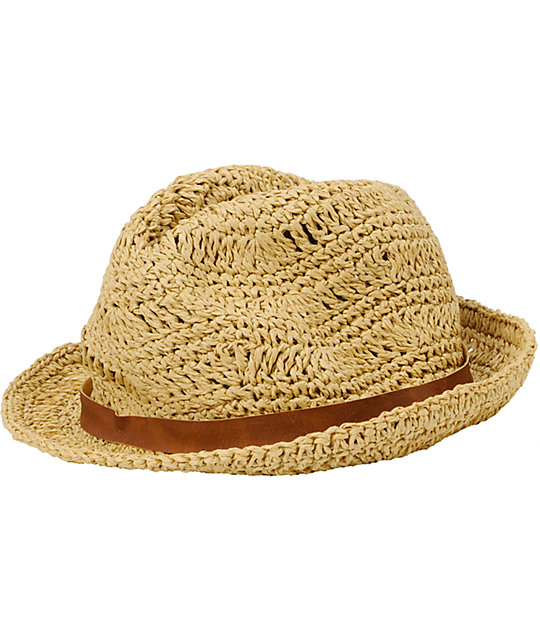 Billabong At The Cabana Straw Fedora Hat