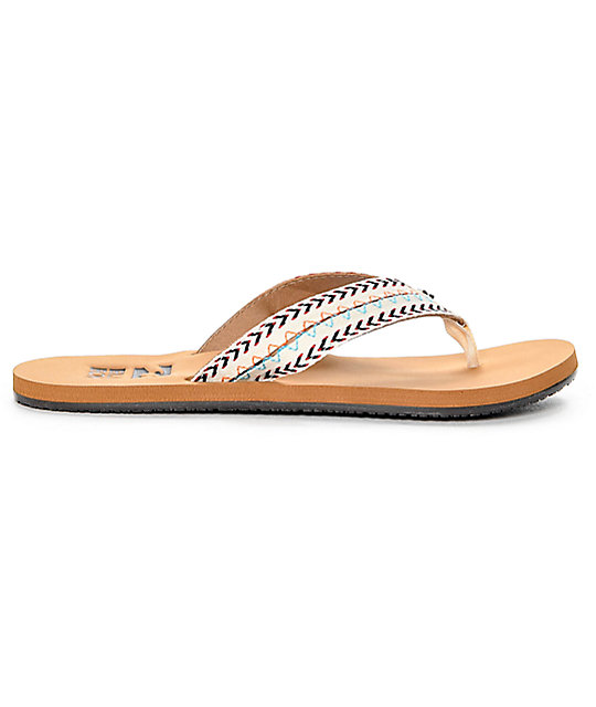 Billabong Baja White Cap Woven Sandals
