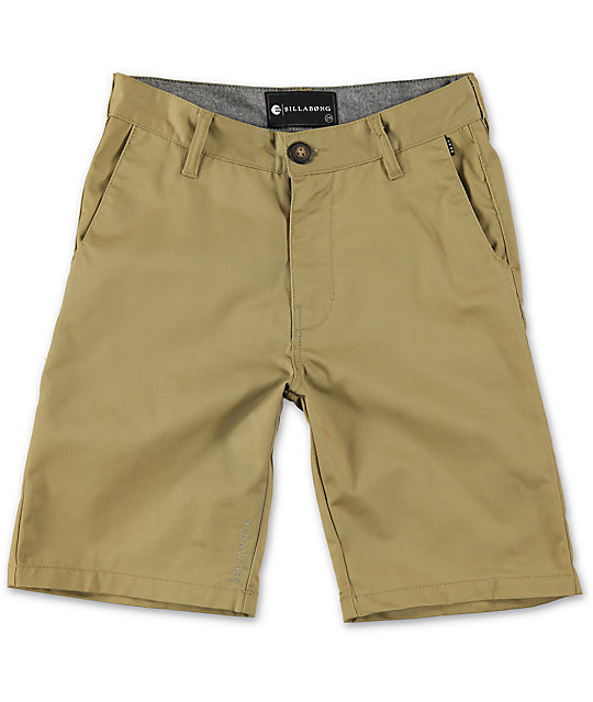 Boys Carter Dark Khaki Chino Shorts