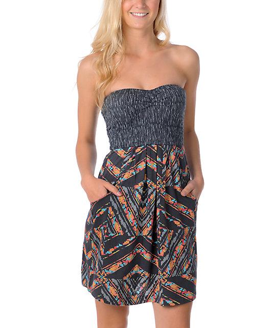 Billabong Charcoal Feather Dress