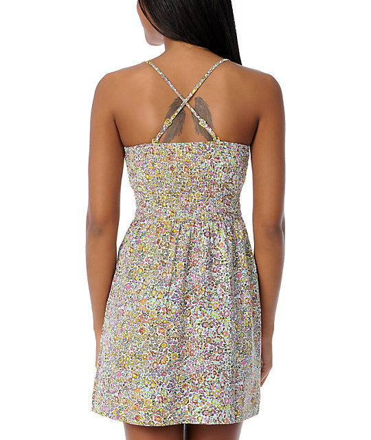 Billabong Charity Floral Bandeau Tube Dress