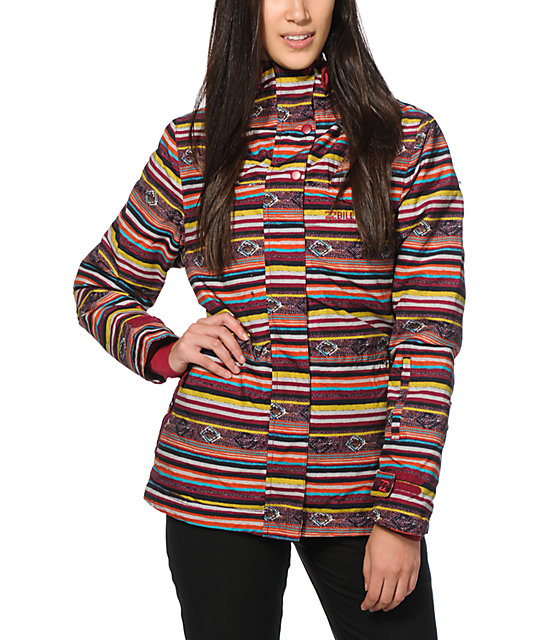 Billabong Cheeky Ikat Stripe 10K Snowboard Jacket
