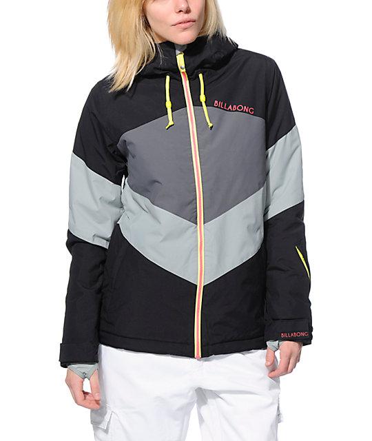 Billabong Colors Black & Grey 10K Snowboard Jacket