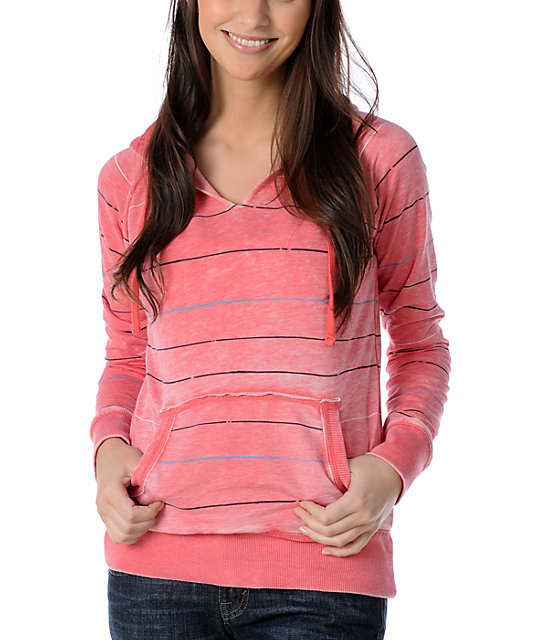 Billabong Coral Bizarre Burnout Pullover Hoodie