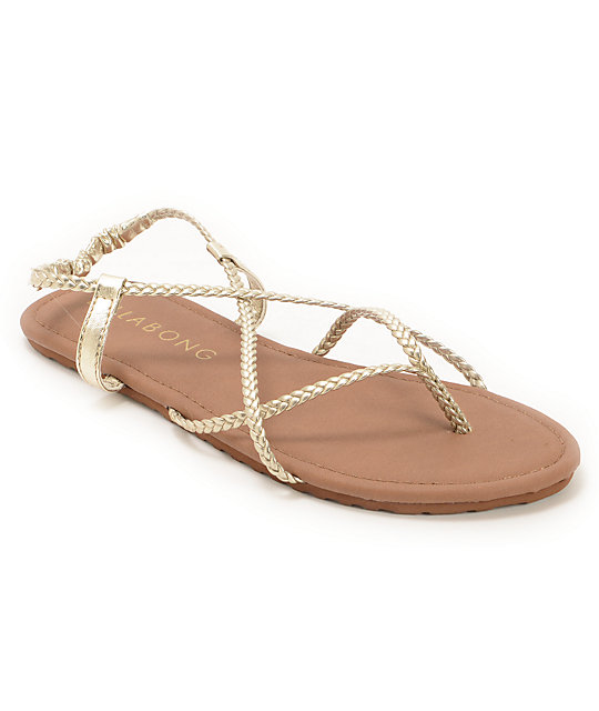Billabong Crossing Over Gold Sandals
