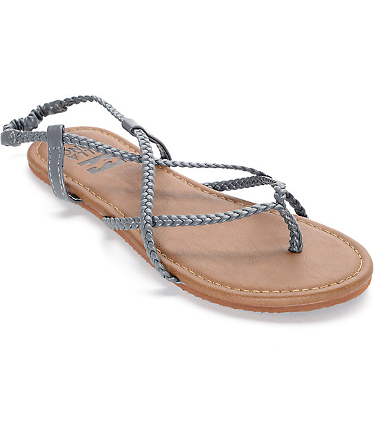 Billabong Crossing Over Grey Sandals