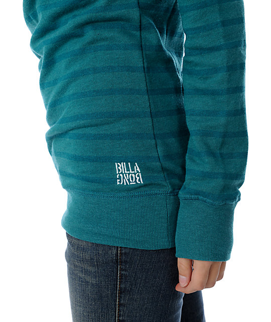 Billabong Cruzer Stripe Turquoise Crew Neck Sweatshirt
