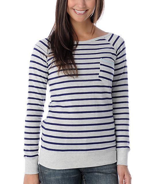 Billabong Cruzer Stripe Vanilla Crew Neck Sweatshirt