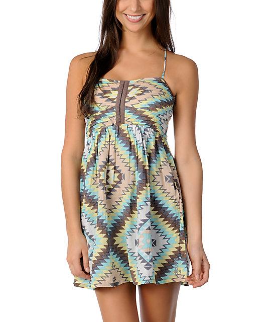 Billabong Davenport Pastel Tribal Woven Dress