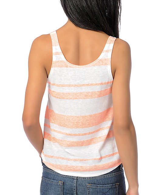 Billabong Dearly Coral Loose Fit Crop Tank Top