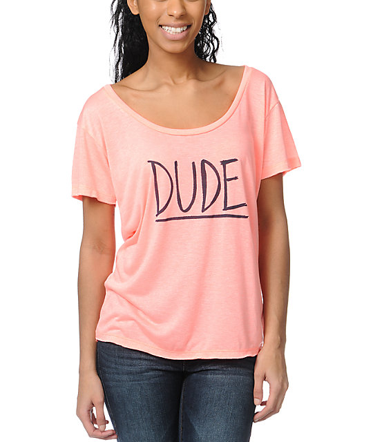 Billabong Duuude Coral Scoop Neck T-Shirt