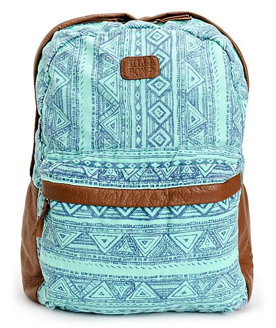 Billabong Fashion Masters Tribal Print Aqua Backpack | Zumiez