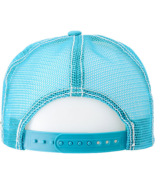 Billabong Free Ryder Turquoise Trucker Hat