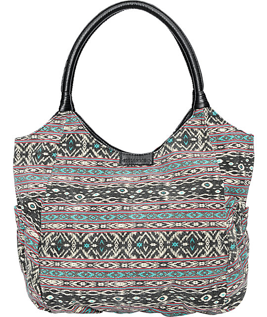 Billabong Get Going Tribal Print Tote Bag