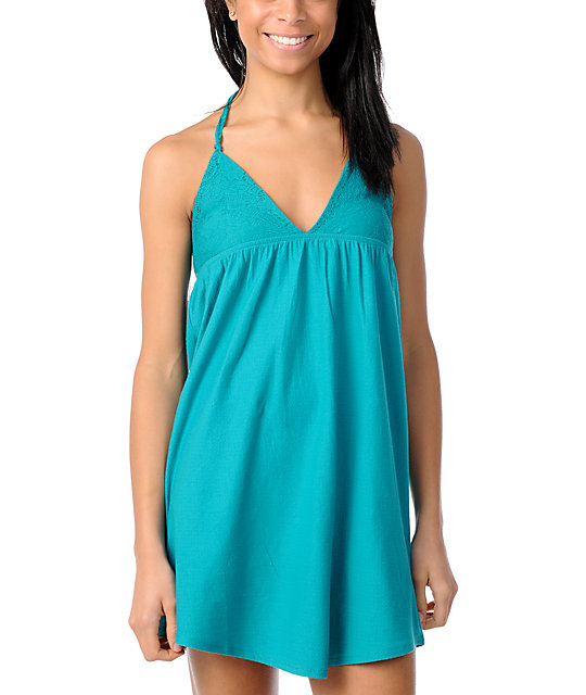 Billabong Green Tide Teal Dress