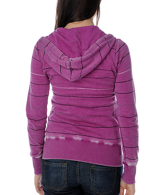 Billabong Harper Stripe Magenta Sweatshirt